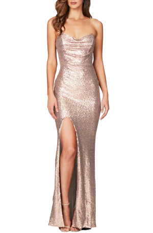 Valentina Gown – Champagne