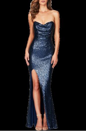 Valentina Gown – Navy