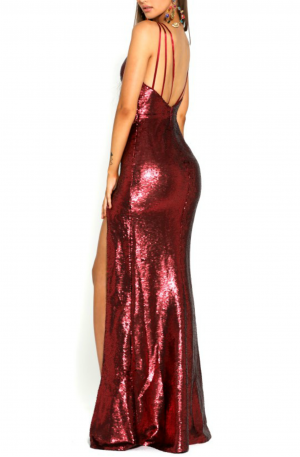 Vicki Gown – Deep Red