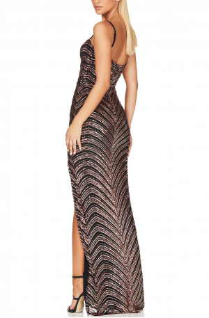 Zahara Gown – Bronze Black