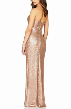 Adele Sequin Gown – Champagne