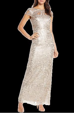 Anita Sequin Column Gown