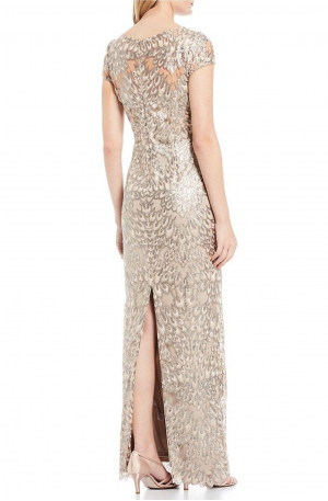 Anita Sequin Column Gown