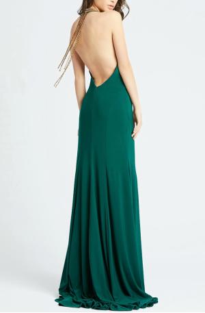 Beaded Halter Neck Gown