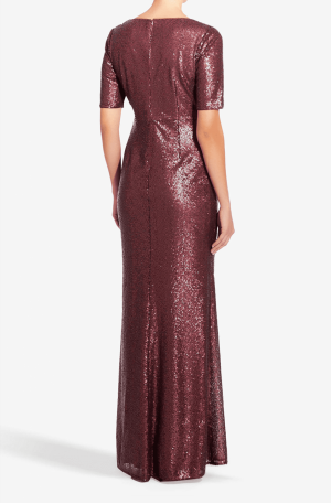 Bethany Wrap Sequin Gown
