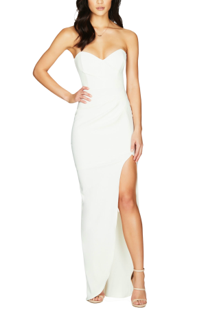 Bisous Gown – White