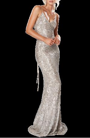 Broadway Maxi Dress – Silver