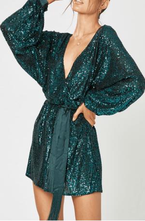 Broadway Short Dress – Emerald