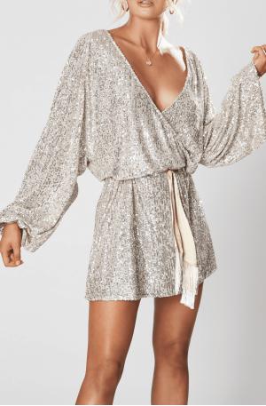 Broadway Short Dress – Silver