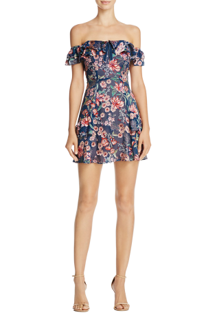 Flora Off Shoulder Mini Dress