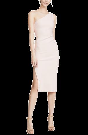 Gemma Asym Midi Dress – Blush
