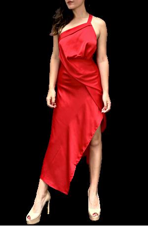 Harlequin Dress – Rouge