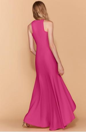 Hi Lo Crepe Gown