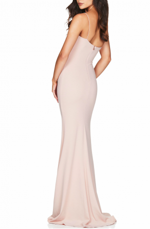 Jasmine One Shoulder Gown – Blush