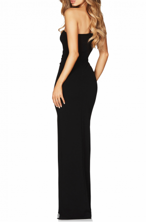 Lust One Shoulder Gown – Black