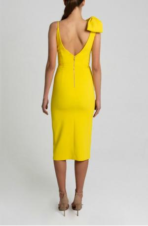 Mondrian Bow Dress – Yellow