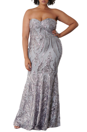 Ophelia Sequinned Gown