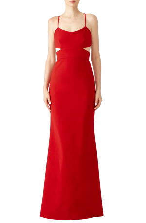 Cardinal Jersey Sleveless Gown
