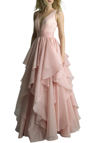 Rose Tulle Ball Gown