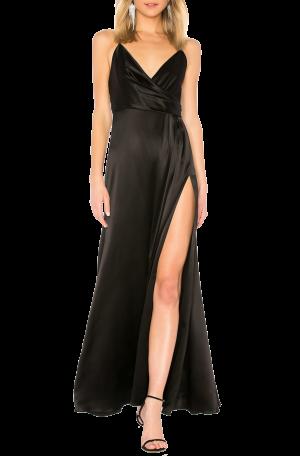 Satin Black Slip Gown