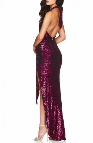 Selena Halter Gown – Fuchsia