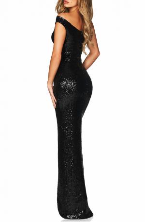 Spellbound One Shoulder Gown – Black