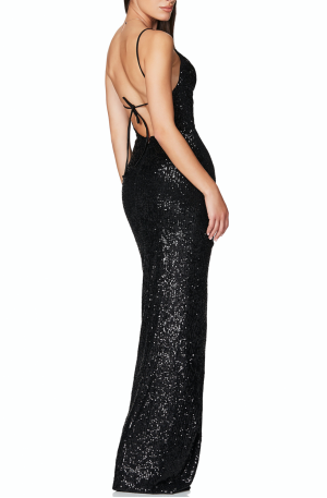Cosmo Gown – Black