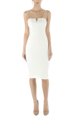 Dylan Midi Dress – Ivory