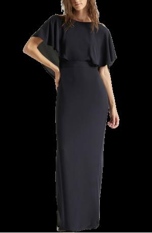 Drape Back Gown – Dark Navy
