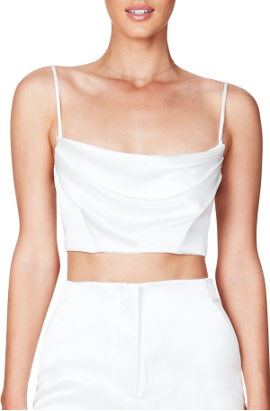 Dream Draped Crop – White