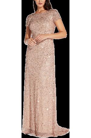 Vivianne Scoop Back Gown – Rose Gold
