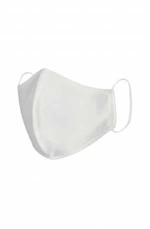 Satin Silk Mask - White